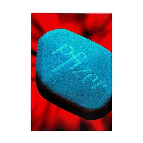 CafePress–Computer Art of a blau Viagra Mal–Rechteck Magnet, 5,1x 7,6cm Kühlschrank Magnet
