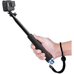Luxebell Perche de Selfie Monopode Extensible de pour Gopro Hero 7 6 5,Session 5, Hero 4/3+/3/2- Noir