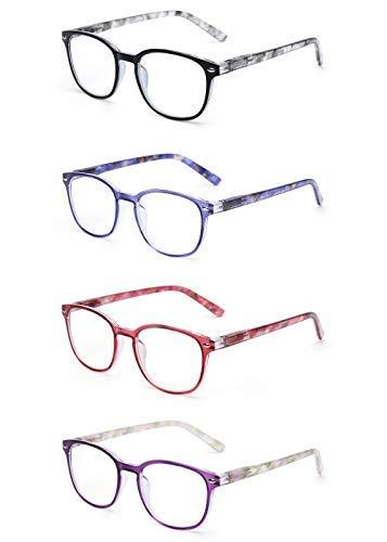 JM Gafas Lectura Conjunto 4 Calidad Bisagras Resorte