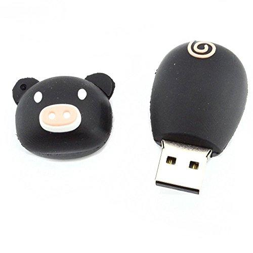 STONG USB 2.0 maiale dolce USB Flash Drive 16GB memoria bella 3D bastone nero + rosa