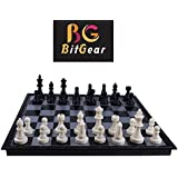 Bitgear Magnetic Travel Chess Set with Folding Chess Board Educational Toys for Kids and Adults Size 9.5-inch