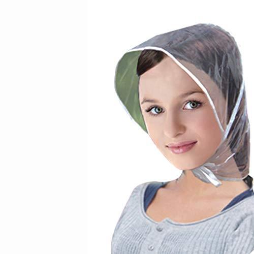hengduolailin Kreative Kunststoff Regen Hut Kappe Mantel Regenmantel Frauen Männer Kinder Geschenke Universelle Verwendung Wandern Angeln Regen Wasserdicht Winddicht Hüte -