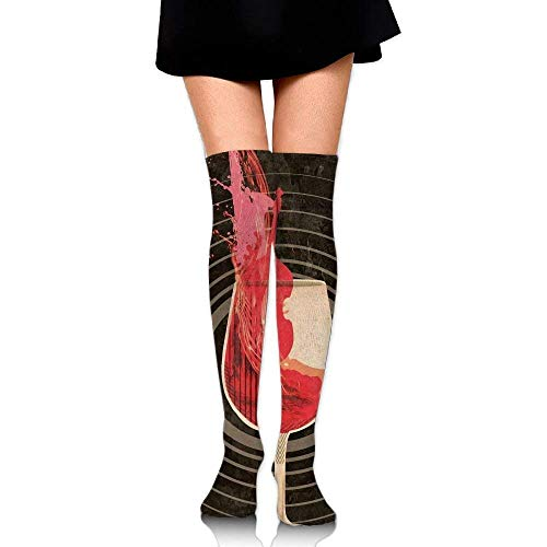 uytrgh Crazy Dog Mermaid Womens Socks Thigh High Knee High Socks Running Socks (Long 50cm Colorful 4071