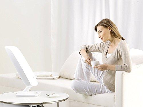 Beurer TL 90 Lampe de luminothérapie | 10 000 lux | Simulation de la lumière du jour | Réglage d'inclinaison en continu | Affichage de la durée de traitement | CE médical