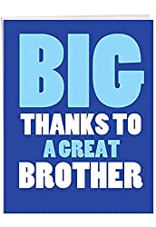 "NobleWorks J3238BXG Dankeskarte mit Umschlag, Aufschrift""Great Brother"", 21,6 x 27,9 cm"