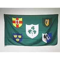AZ FLAG IRFU Ireland Rugby Flag 3' x 5' for a pole - Irish Rugby Football Ireland flags 90 x 150 cm - Banner 3x5 ft with hole