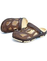 Sandalias para Hombres Mulas Talón Plano Vamp Vamp Slip On Outdoor Trend  Sandalias de Playa ca23c64b116