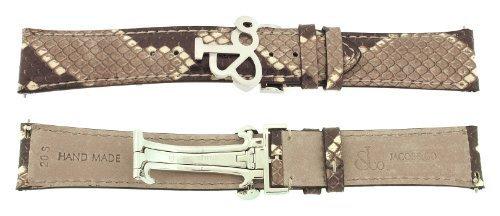jacob-co-echtes-echt-python-braun-short-band-gitarrengurt-20smm-uhr-fur-40-mm