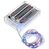 Smartfox 20 LED 2m Leuchtdraht Lichtdraht Lichterkette batteriebetrieben in blau