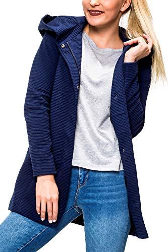 ONLY Damen Mantel onlSEDONA LINK Spring Coat CC OTW Blau (Black Iris Detail:Melange), 36 (Herstellergröße:S)
