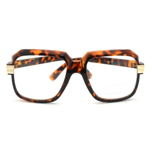 Moda Super Nerdy Clear Lens Eyeglasses Square Thick Frame Celebrity Trendy Tortoise