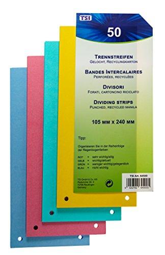 TSI Trennstreifen 50er Packung stabiler Karton, 160 g/m²