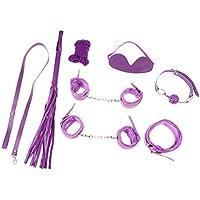 FLAMEER 7 Unids Productos Del Sexo Kit Juegos Adultos Esposas De Juguete Whip Rope Parejas Juguete Erótico