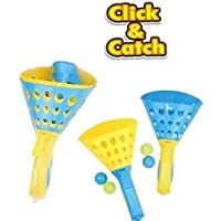 FunBlast Click and Catch Twin Ball Game Indoor Outdoor Toy Set | Pop & Catch Ball Play Fun Boys & Girls.