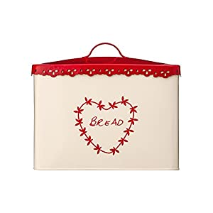 Premier Housewares Anglaise Bread Bin - Cream/Red