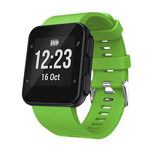 HENPICourroie de poignet de remplacement Silicagel Soft Band Strap For Garmin Forerunner 35 Bluetooth Classiques La mode masculine Pas cher iphone Android sport Élégant Sa (vert)