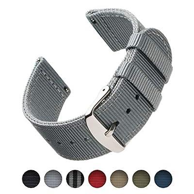 Archer Watch Straps   Repuesto de Correa de Reloj de Nailon para Hombre y Mujer, Correa Fácil de Abrochar para Relojes y Smartwatch   Varios Colores, 18mm, 20mm, 22mm
