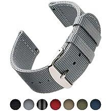 Archer Watch Straps   Bracelets de Remplacement en Nylon Facilement  Interchangeables pour Montre Homme et Femme 83563b3c040
