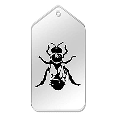 10 x Large 'Drone Bee' Clear Gift / Luggage Tags (TG00038004)