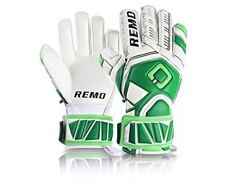 REMO Sports Erwachsene Guarda Fingersave Torwarthandschuhe, grün/Weiß, 11