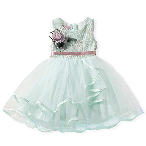 Kleid für Kinder Kind Mädchen Heligen Kleinkind Spitze Blume Prinzessin Net Garn Leistung Tutu Kleid Kleidung Party Dress Outfit Kleidung Kinderkleidung