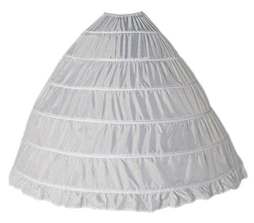 Happydress® sottogonna sposa sottogonna 6 cerchio crinolina cerchi sottogonna sottoveste da sposa wedding petticoat abiti da sposa sottovesti sottogonna sottoveste sottogonne donna (6hoop, bianca)