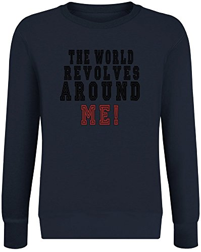 Die Welt dreht Sich um Mich! - The World Revolves Around Me! Sweatshirt Jumper Pullover for Men & Women Soft Cotton & Polyester Blend Unisex Clothing XX-Large