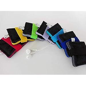 Uni Farbe Kopfhörertasche mit Gummiband. 7 Verfügbare Farben.Earpod, Earplug, Kopfhörer Tasche, kleines Etui, Bag, Täschchen. Kleines Geschenk