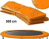 Izzy Trampolin Federabdeckung Ø 305 cm, orange, 30 cm breit, PVC reißfest, 100% UV-beständig, Randabdeckung, Randpolsterung, Randschutz, Umrandungsmatte