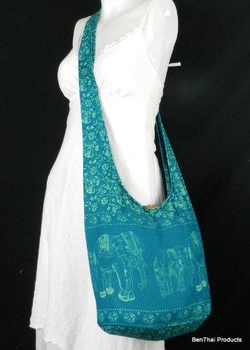 BenThai Products , Sac bandoulière pour femme Noir Blue ME13 grand Teal ME12