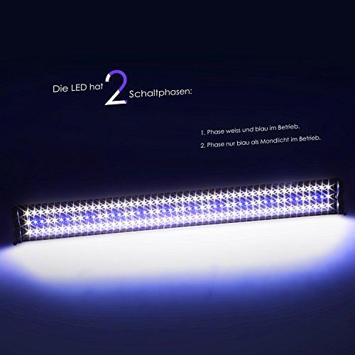 SIMBR Aquarium beleuchtung Lampe LED Aufsetzleuchte Schwarz (95-115cm) - 5