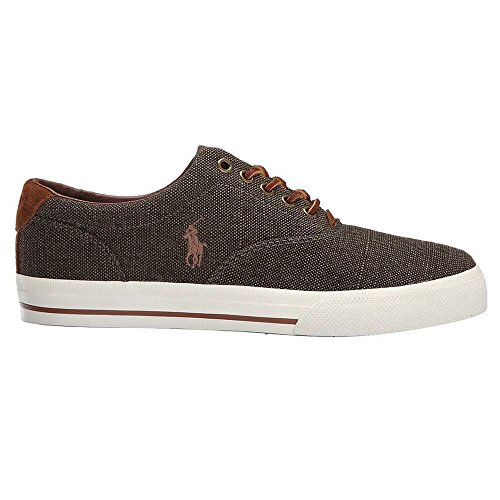 Ralph Lauren Mens Vaughn SK VLC Canvas Trainers