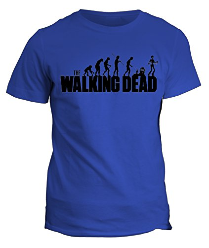 Tshirt the Walking Dead - Zombie Evolution - in cotone by Fashwork Blu