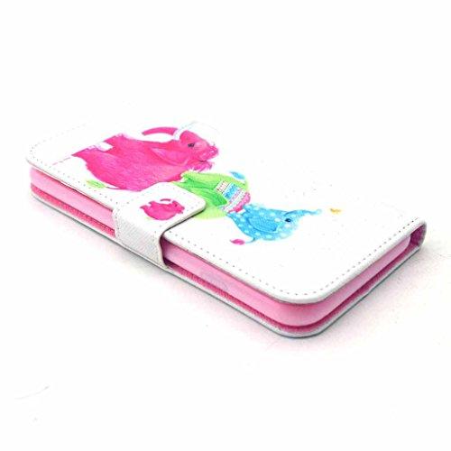 PowerQ Colorful Pattern Bunte Muster PU Etui Holster Reihe Hülle für IPhone 6 6S IPhone6 IPhone6S PU Tasche mit schönen Hübsches Muster drucken Drucken Zeichnung Wallet Geldbeutel Beutel Handy Fall Ha X-2