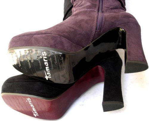 Tamaris , Bottes de moto femme Noir