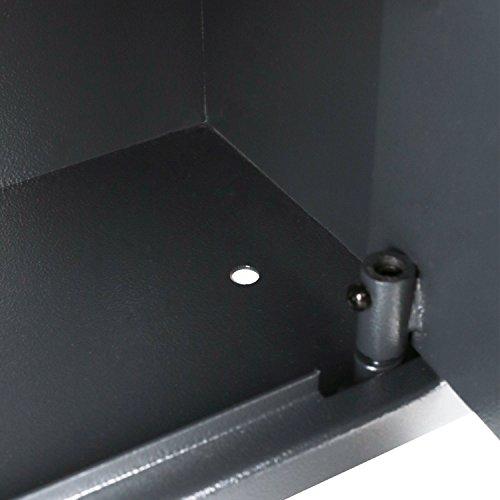 HMF 49200-11 Möbeltresor Doppelbartschloss, 31,0 x 20,0 x 20,0 cm , anthrazit - 6