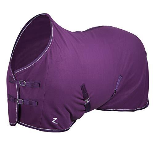netproshop Pferde Abschwitzdecke aus Fleece Auswahl, Groesse:125, Farbe:Dunkles lila