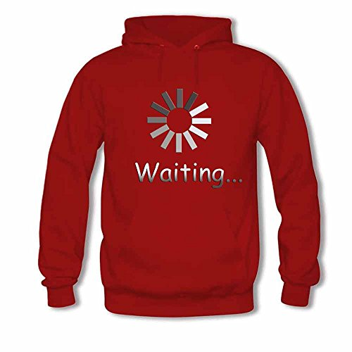 Waiting Logo Cotton Hoodie Women's Sweatshirt M
