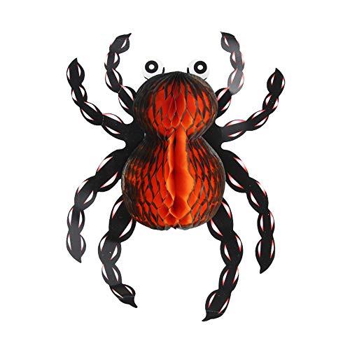 (wsjwj Nachtlichter & Schlummerleuchten Halloween-Geist-Festival verkleiden sich Laterne Dekoration Props faltende Laterne, Folding Spider Orange Black)