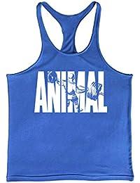 Cabeen Hombre Animal Camiseta Deportiva Sin Mangas Y-Back Gimnasio Tank Top Culturismo