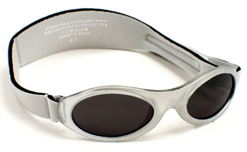 Baby Banz Adventure Kids Banz Sunglasses Silver Sparkle Frame With Grey Category 3 UV Lens