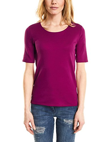 Cecil Damen T-Shirt 311780 Lena, Rosa (Magic Pink 11277), Medium (T-shirt Damen Leben Rosa)