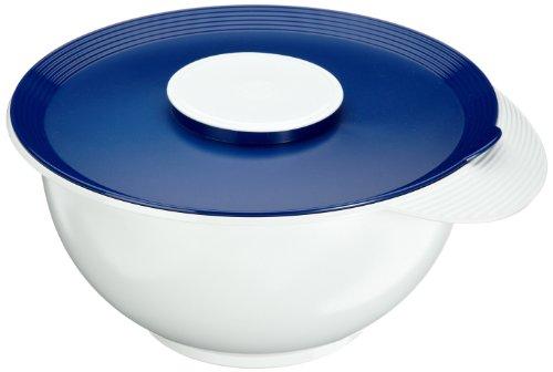 Emsa 2154451200 Rührtopf mit Deckel, Spritzschutz, 4,5 Liter, Weiß/Blau, Superline