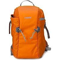 RUBRIC® E5 Backpack Bag for DSLR Camera Canon Sony Nikon, Orange Waterproof Anti Theft Front Open (E5, Orange)