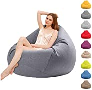 ZWIFEJIANQ 2020 New Household Lounger Bean Storage Bag Lazy Sofa Chairs Waterproof Puff Couch Cover for Living