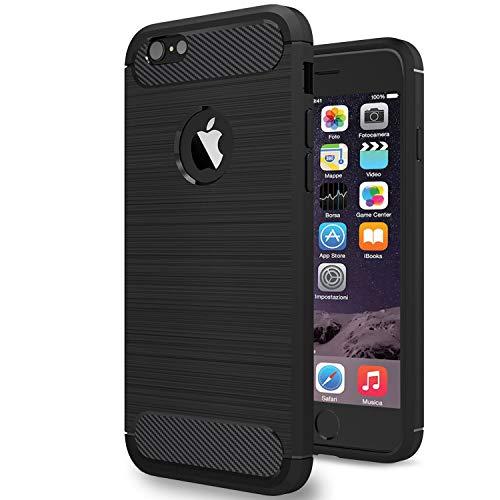 NEW'C Funda para iPhone 6/6S, Anti- Choques y Anti- Arañazos, Silicona TPU, HD Clara
