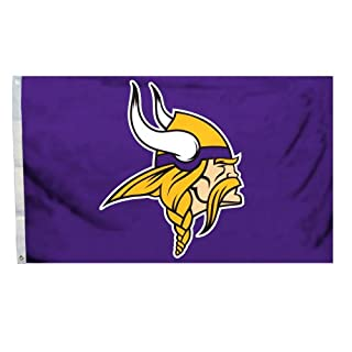 Fremont Die NFL Minnesota Vikings Logo Flagge, 3x Geschenkpapierrolle 150cm