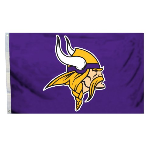 Fremont Die NFL Arizona Kardinals Flagge mit Öse, NFL Minnesota Vikings 3-by-5 Foot Logo Flag, Logo, 3 x 5-Foot - Sport Minnesota