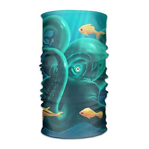 Fantastic Octopus Unisex Breathable Headband Bandanas Headwear Balaclava Neck Gaiter Magic Scarf UV Protection for Daily Activities