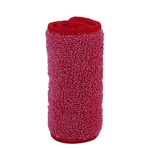 Demino Haushalts Mikrofaser Wischpad Spray Mop Mat Ersatzkopf Mopptuch Reinigungspads rot